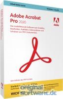 Adobe Acrobat Pro 2020   Windows macOS   DVD Version   Deutsch   Student & Teacher