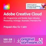 Adobe Creative Cloud Individual Komplett-Abo   Mehrsprachig   Laufzeit 1 Jahr