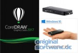 CorelDRAW Graphics Suite 2017 | Deutsch | DVD OEM + Mini PC - CSL PC on a Stick / Win 10 Pro