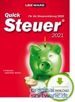 Lexware QuickSteuer 2021 | für die Steuererklärung 2020 | Download