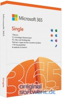 Microsoft 365 Single | 1 Jahres-Lizenz | 1 Nutzer | Box-Pack