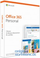 Microsoft Office 365 Personal | 1 Jahres-Lizenz | Aktivierungskarte