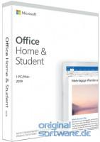 Microsoft Office Home & Student 2019   1 PC/MAC   Dauerlizenz   Box