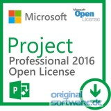 Microsoft Project Professional 2016 Open Lizenz