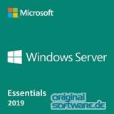 Microsoft Windows Server Essentials 2019 | DVD | OEM Version | Englisch