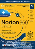Norton 360 Deluxe | 5 Geräte | 15 Monate Schutz | 50 GB | Abo