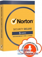 Norton Security Deluxe | 5 Geräte | 2 Jahre | Download