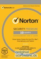 Norton Security Premium | 10 Geräte | 1 Jahr | Download