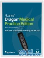 Nuance Dragon Medical Practice Edition 4.1+ Diktiermikrofon PowerMIC III | Staffel 5-25 Nutzer