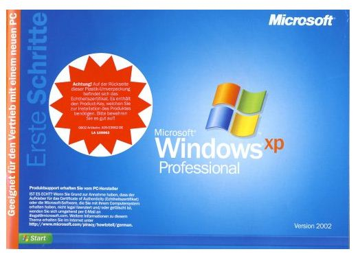 Microsoft Windows XP Professional E Vollversion