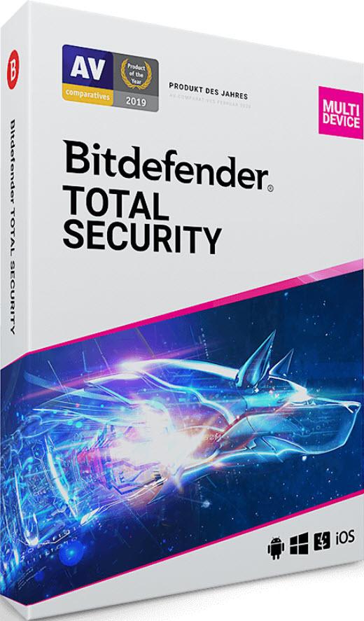 BitDefender Total Security Multi-Device 2019 / 5 Geräte / 3 Jahre