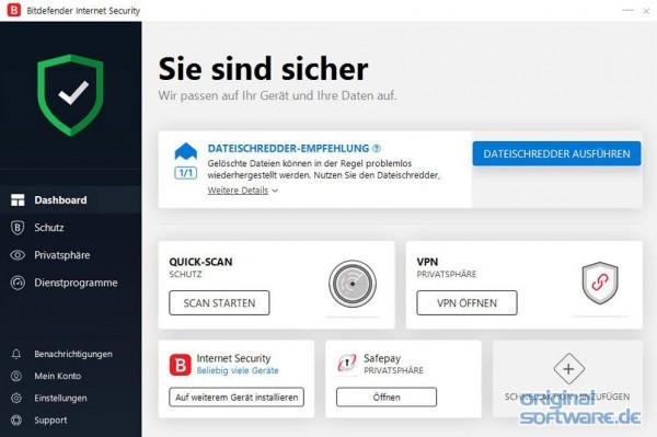 bitdefender internet security multi device 2018 10. Black Bedroom Furniture Sets. Home Design Ideas