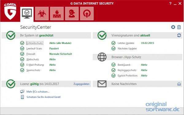 G DATA Internet Security 2019 | 1 PC | 1 Jahr Schutz | Download