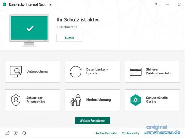 Kaspersky Internet Security 2020 | 1 Gerät | 2 Jahre