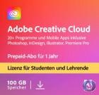 Adobe Creative Cloud Komplett-Abo für Student & Teacher | Laufzeit 1 Jahr